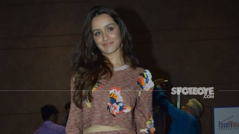 Shraddha Kapoor Looks Ethereal In Golden And Blue Lehenga At Priyaank Sharma's Wedding; Pink Floral Pagdi Is An Add On - PICS INSIDE