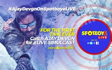 SpotboyE Live launches with Ajay Devgn on 9XM and Facebook