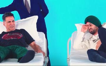 Good Newwz: Akshay Kumar - Diljit Dosanjh Experience Labour Pain, Courtesy Technology; Reaction Is LOL-Worthy
