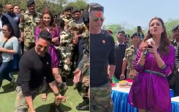 Akshay Kumar Dances His Heart Out With BSF Jawans While Parineeti Chopra Sings For Them- Watch Videos