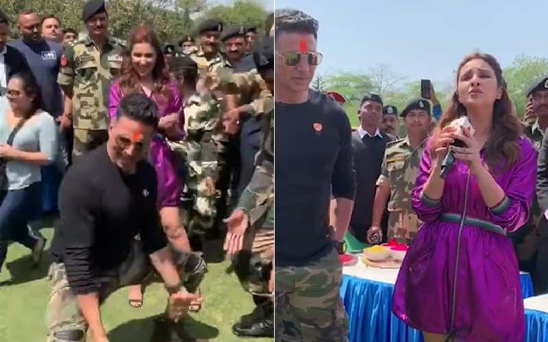 BSF के जवानों के साथ मिलकर अक्षय कुमार ने किया जमकर डांस, परिणीति चोपड़ा ने भी छेड़े सुर