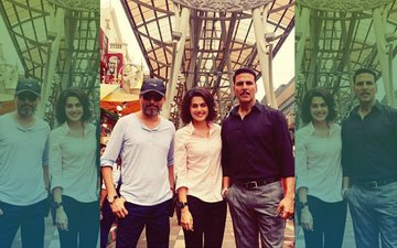 Akshay Kumar With Pink Girl Taapsee Pannu In Malaysia