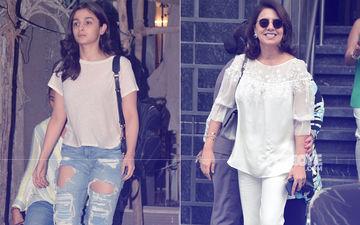Alia Bhatt Enjoys A Salon Day, Ranbir's Mom Neetu Kapoor Lunches Next Door In Juhu