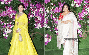 Akash Ambani-Shloka Mehta Wedding: Alia Bhatt Looks Like Sunshine In Yellow, Vidya Balan Papped In Her Trademark Saree