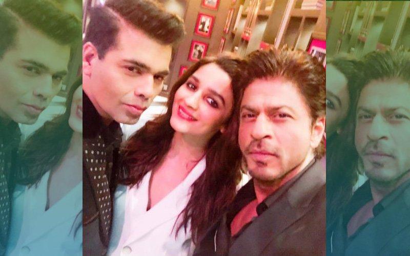 CLICKED: Shah Rukh Khan, Alia Bhatt, Karan Johar On The Sets Of Koffee With Karan
