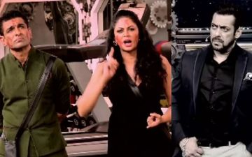 Bigg Boss 14: Eijaz Khan And Kavita Kaushik's Fight Goes From Bad To Worse; Leaves Host Salman Khan Angry As He Walks Off From The Stage