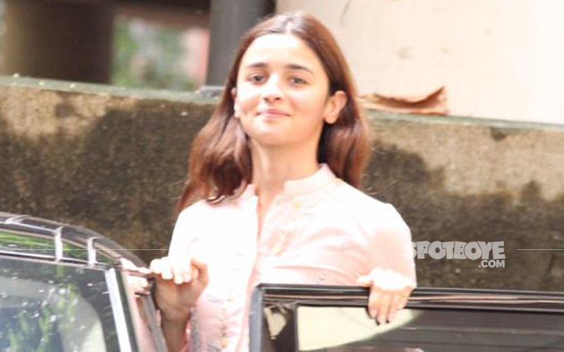 What's Cooking? Alia Bhatt Clicked Exiting Sanjay Leela Bhansali's Residence Post News Of Inshallah Being Shelved