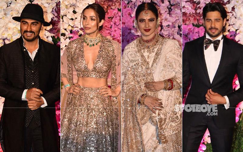 Akash Ambani-Shloka Mehta Wedding Party: Arjun Kapoor-Sidharth Malhotra Keep It Dapper In Suits, Malaika Arora-Rekha Add Up The Glamour Quotient