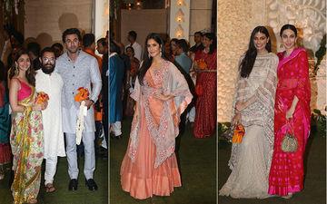Ganeshotsav 2019: Alia Bhatt, Ranbir Kapoor, Katrina Kaif, Aamir Khan, Sachin Tendulkar, Bachchans Celebrate Ganpati Festival With Ambanis At Antilia