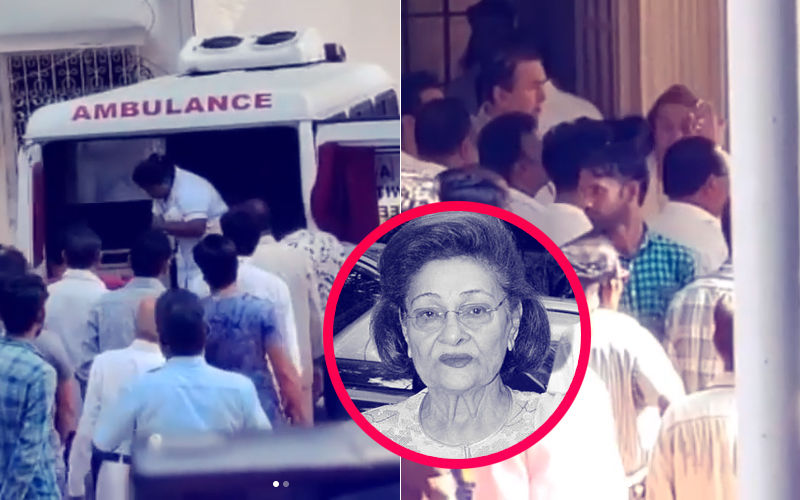 Ambulance Brings Krishna Raj Kapoor's Mortal Remains To Her Chembur Bungalow