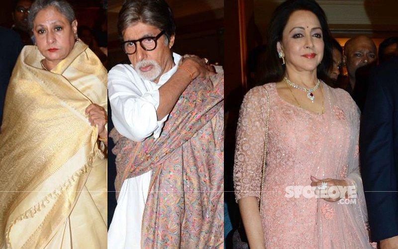 Amitabh Bachchan, Jaya Bachchan's Surprise Visit On Hema Malini's Birthday; Dharmendra Skips The Party