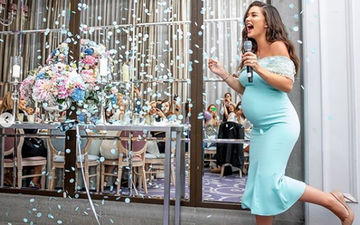 Amy Jackson Gets An All-Blue Themed Baby Shower Plus A Gender Reveal Party Of Her Dreams, Pics Inside