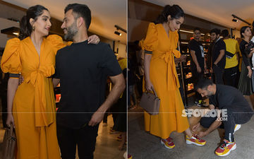 Anand Ahuja Gets Down On His Knees To Tie Shoelace For Sonam Kapoor And It's Totally Adorbs