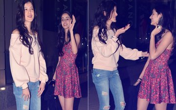 Pics: Ananya Panday & Shanaya Kapoor's Night Out