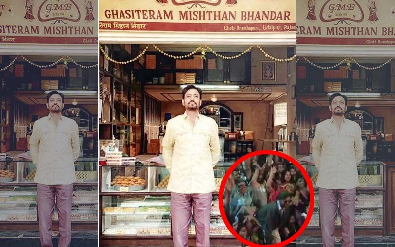 Angrezi Medium Video: Irrfan Khan Cheered On By Fans As He Shoots In Udaipur