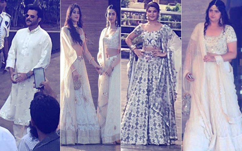 Sonam Kapoor's Mehendi: Anil, Janhvi, Jacqueline & Anshula Arrive At The Venue