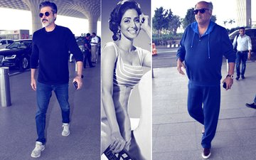 Anil & Boney Kapoor Leave For Haridwar To Offer Prayers For Sridevi