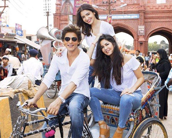 Anushka Sharma Katrina Kaif And Shah Rukh Khan