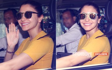 Hello Miss Sunshine! Anushka Sharma Resumes Shooting For Zero, View Pics