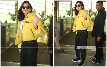 Anushka Sharma's Comfy Airport Look Is Perfect But We Are Eyeing Her Yellow Bomber Jacket
