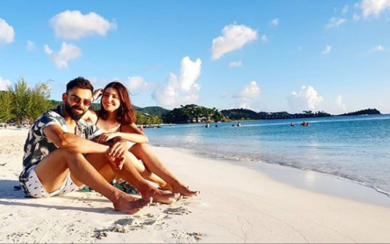Virat Kohli and Anushka Sharma's Picture Of Soaking The Sun On Beach Has Love Written All Over It