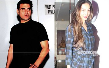 Arbaaz Khan, Malaika Arora Spend Karva Chauth Together