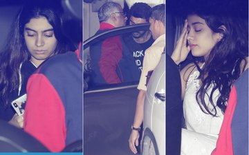 Boney Visits Arjun Kapoor With Daughters, Janhvi  & Khushi
