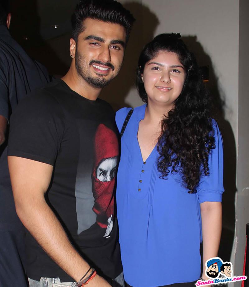 Arjun Kapoor With Sister Anushala