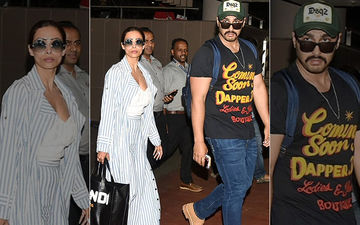 Did Arjun Kapoor Accompany Malaika Arora On Her Maldives Vacay? Pictures Of Couple From The Airport Say So!