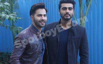 Varun Dhawan And Arjun Kapoor Shoot For Yaaron Ki Baraat