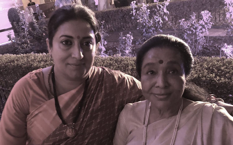 Asha Bhosle Gets Stranded At PM Narendra Modi's Oath Ceremony; Smriti Irani Comes To Rescue