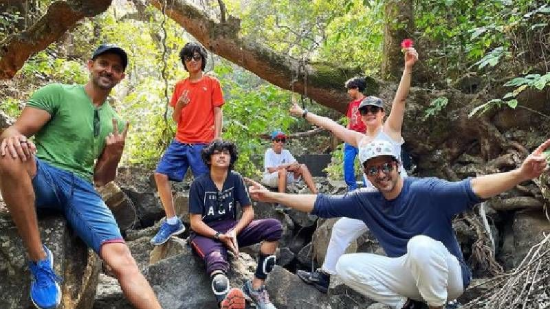Hrithik Roshan Goes Hiking With Sussanne Khan, Her Brother Zayed Khan And Kids; Shares Pictures Of Happy Faces
