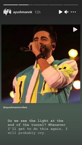 Ayushmann Khurrana s Instagram stories