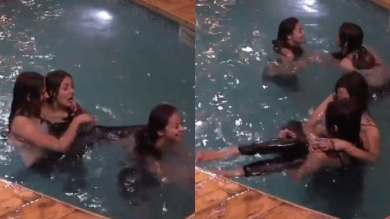 Bigg Boss 13 Pool Party Promo: 'Girl Gang' Mahira Sharma, Shehnaaz Gill, Devoleena Bhattacharjee And Arti Singh Enjoy In The Water