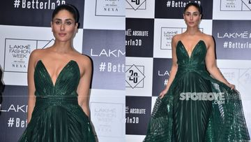 Lakme Fashion Week Grand Finale: Kareena Kapoor Khan Looks GREEN HOT As She Struts The Ramp In A Massive Gown With Sexy Plunging Neckline