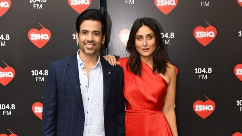 Mujhe Kuch Kehna Hai Co-Stars Kareena Kapoor Khan And Tusshar Kapoor Reunite For Former's Radio Show – Pictures Inside