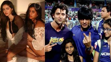 BFFs Ananya Panday-Suhana Khan Look Nearly UNRECOGNISABLE In THIS Throwback Snap With Shah Rukh Khan And Hrithik Roshan