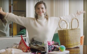 Emma Watson Reveals Bizarre Items In Her Handbag Including Vegan Deodorant, Muscle Rub And Tooth Mouse – VIDEO
