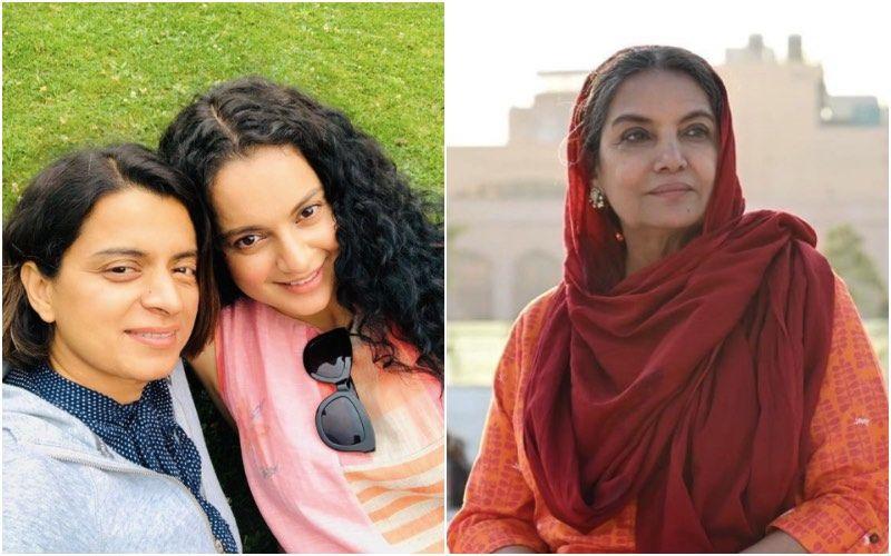Kangana Ranaut's Sister Rangoli Hits Back At Shabana Azmi For Calling Kangana's Statements On Bollywood 'Outrageous'