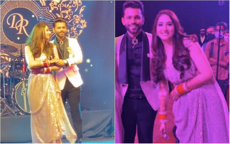 INSIDE Rahul Vaidya-Disha Parmar's Reception: Jasmin Bhasin, Arjun Bijlani, Sana Makbul Khan Give A Peek Into The Happening Celebration-VIDEOS