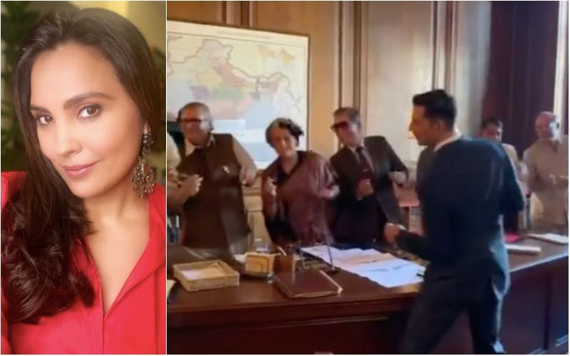 Bell Bottom: Lara Dutta And Team Sway On The Sets As Akshay Kumar Makes Them Dance To His Tunes; Actress Gives A Peek Into Their 'Masti'- Watch