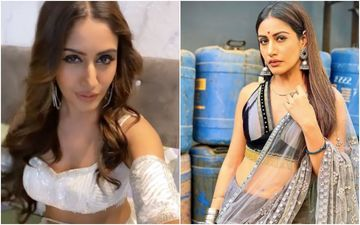 Naagin 5: Surbhi Chandna Yet Again Flaunts Her Unconventional Saree Look; Showcases The Perfect Blend Of Desi And Sexy