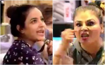 Bigg Boss 14: Jasmin Bhasin Makes Fun Of Rakhi Sawant's Broken Nose; Former Takes A Sly Dig That She Hasn't Got Her Nose Corrected Like Her – VIDEO