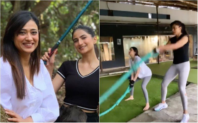 Shweta Tiwari And Palak Tiwari's Intense Workout Will Motivate You To Hit The Gym Right Away; Mother-Daughter Duo Slaying And How-Watch