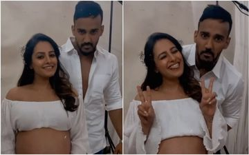 Preggers Anita Hassanandani Looks Like An Angel In White; Flaunts Her Baby Bump In Maternity Shoot With Hubby Rohit Reddy- WATCH