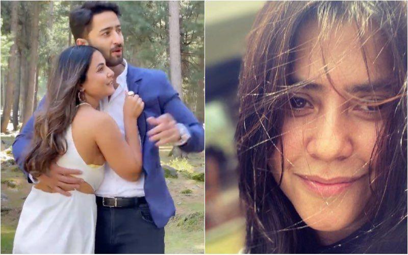 Baarish Ban Jaana: Hina Khan Drops A Romantic BTS Video With Shaheer Sheikh Ahead of Song Release; Ekta Kapoor Teasingly Says 'Uski Biwi Ka Gana Hai' — Video