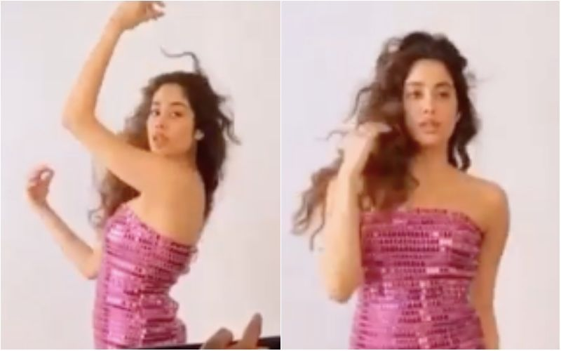 Janhvi Kapoor Flaunts Her True Millennial Style, Shows Off Her Party Look In A Hot Pink Blingy Dress