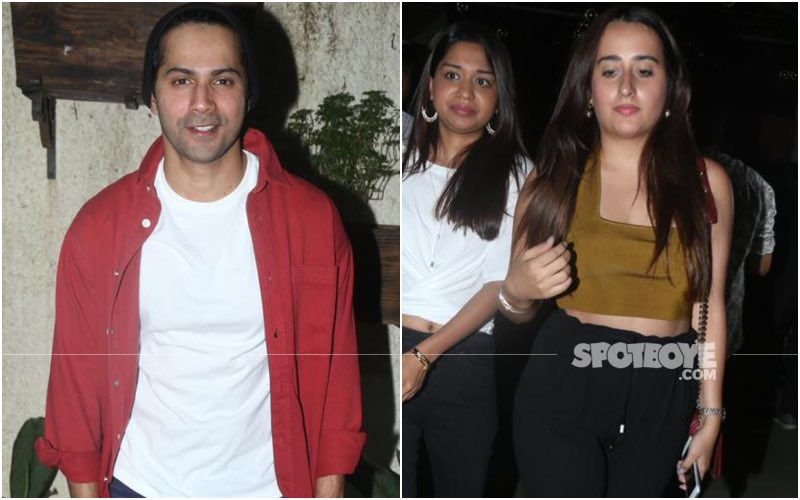 Varun Dhawan Gets Playful As His Friends Lift Him Up During Varmala Ritual; Natasha Dalal Stands On Her Toes To Reach Him - PIC INSIDE