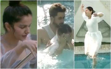 Bigg Boss 14: Rubina Dilaik Slips And Falls Into The Swimming Pool; Aly Goni Comes To Her Rescue – VIDEO