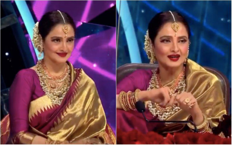 Indian Idol 12: Rekha Flaunts Her Swag As She Wears Golden Sneakers With Saree; Gives A Glimpse Of Her Hip-Hop Dance Moves – VIDEO